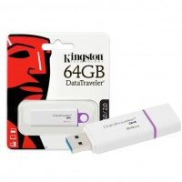 Kingston 64 GB DTIG4/FR USB 3.0 White-Purple