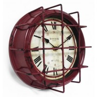 Wall Clock Loft Style RED
