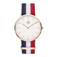 watch red navy white