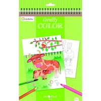 Avenue Mandarine Coloring Book - Farm theme