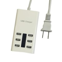 iTalk 6 Port Mains USB Wall Plug Charger