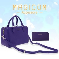 BOSTON BAG SET - PURPLE