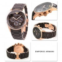 Emporio Armani Sportivo Men's Quartz Watch with Br