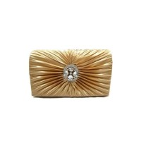 Evening Silk Clutch Bag - Gold