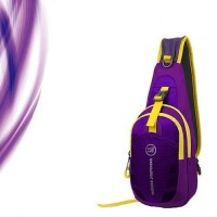 Cross Body Chest hiking Bag - สีม่วง