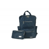 Hapitas Back Pack(A) - Ribbon Border Navy