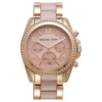 MK5943 Blair Rose Gold Glitz Chronograph Watch
