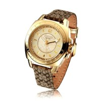 Coach 14501287 signature Quartz Gold Dial