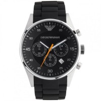 Emporio Armani Black Band Black Dial - Quartz, Men