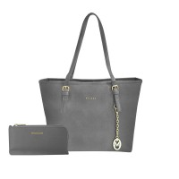 Shopping Bag + Plano Wallet ( Gray )